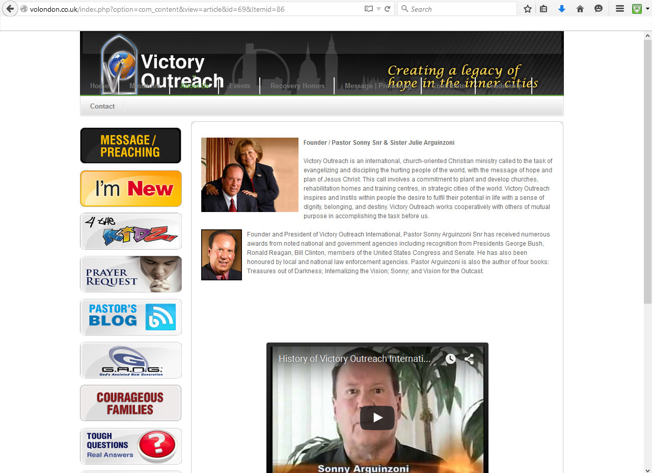 victory outreach manchester deceitful dealings manchester and victory outreach international have been known to support ministries that are responsible for leading so many astray
